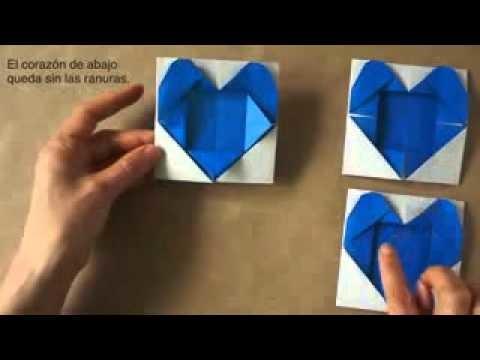 Origami Heart Frame -- Portarretrato Corazón de papel