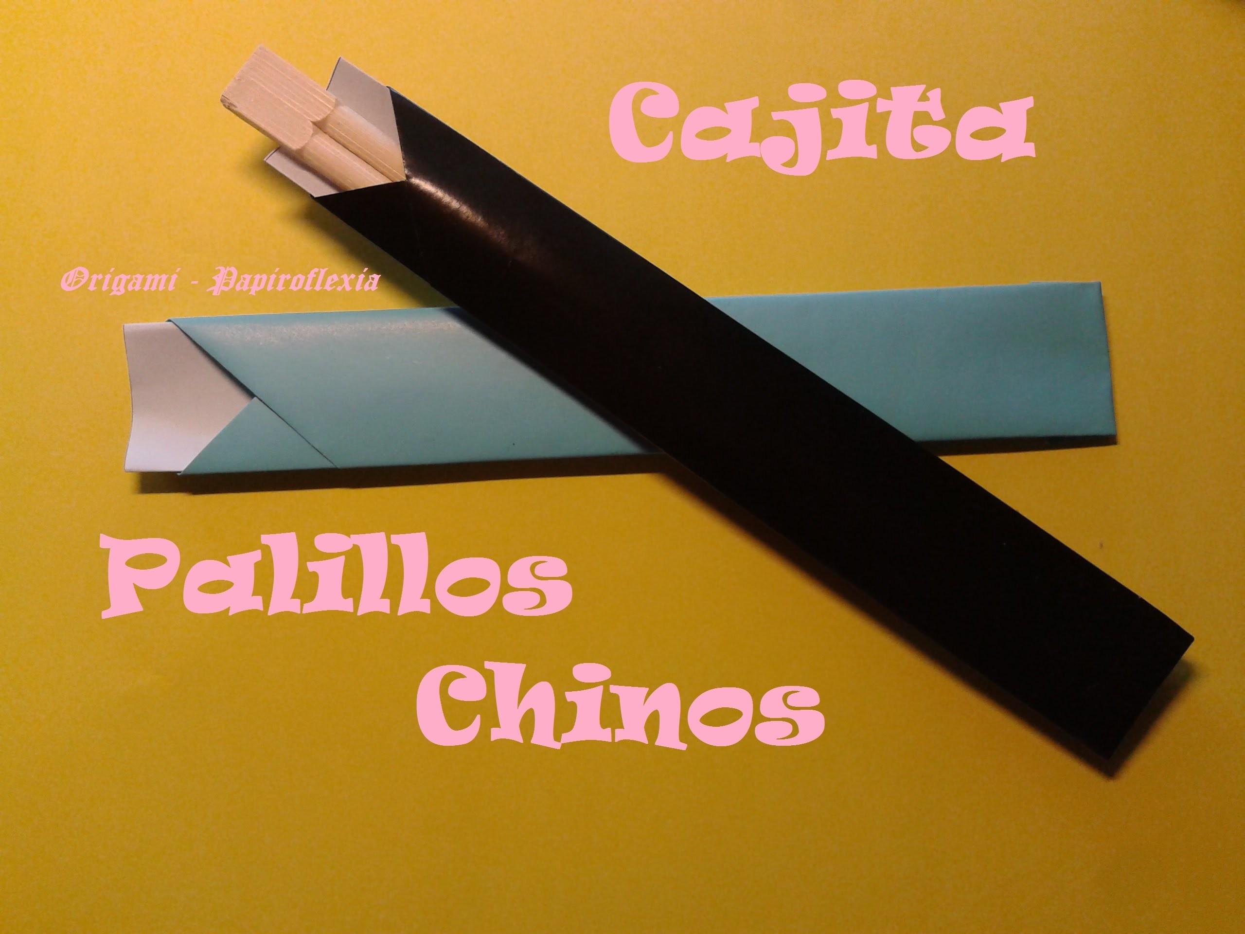Origami - Papiroflexia. Cajita para los palillos chinos, muy rápida y fácil