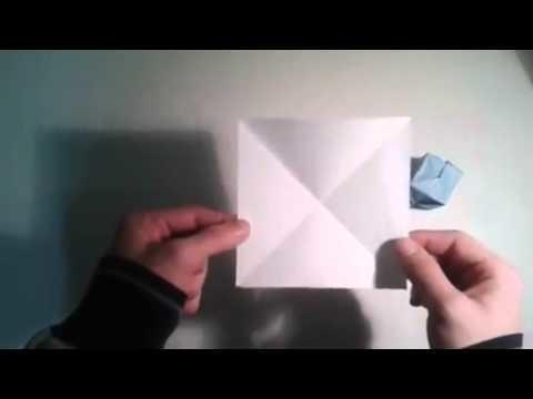 Origami para principiantes  7# Como hacer la base de bomba de agua   [Origami - Papiroflexia]