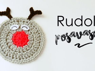 Posavasos de Rudolf el Reno a Crochet