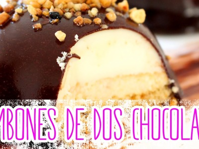 Receta: Bombones de 2 chocolates