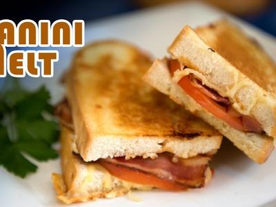Sandwich Caliente de Bacon,Tomate y 3 Quesos con Ajo o Panini Melt