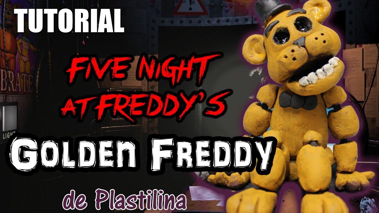 Tutorial Golden Freddy (FNaF) de Plastilina. Clay. Porcelana fria. Cold Porcelain