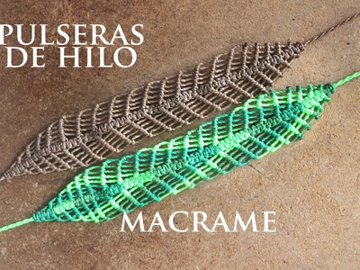 Tutorial pulsera de hilos ancha pulseras faciles | frienships bracelets (macrame)