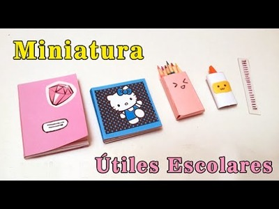 Útiles escolares para muñecas. cute and Kawaii