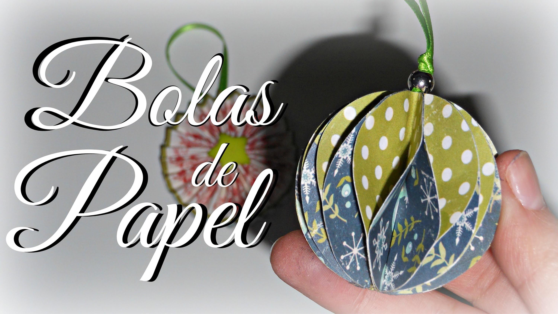 Bolas de Papel #1 | Adorno de Navidad | Mundo@Party