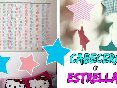 CABECERO MÓVIL de ESTRELLAS * Ideas para decorar tu cuarto