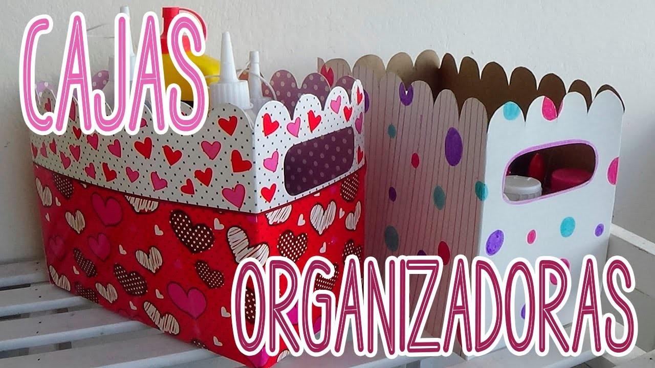 Cajas organizadoras de cartón decoradas - Candy Bu
