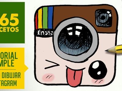 COMO DIBUJAR LOGO INSTAGRAM KAWAII PASO A PASO - Dibujos kawaii faciles - draw Logo Instagram