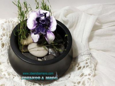 Cómo hacer orquídea con esmalte y alambre