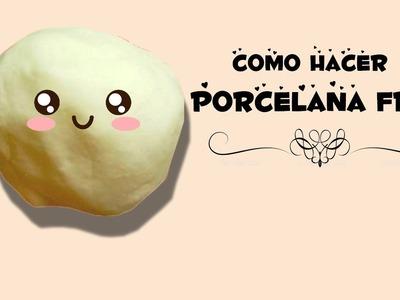Como hacer PORCELANA FRIA facil ♥ !. pasta francesa.