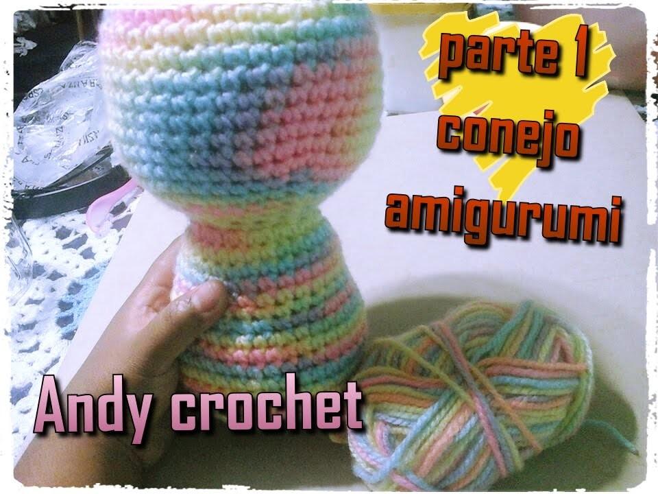 CONEJO AMIGURUMI CUERPO ( 1 DE 4 )Andy crochet