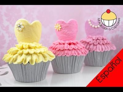 Cupcakes de Bailarinas - ¡Haz Cupcakes de Ballet Tutu con Mi Adicción a Cupcakes!