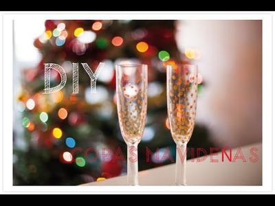 DIY Copas para brindar en Navidad