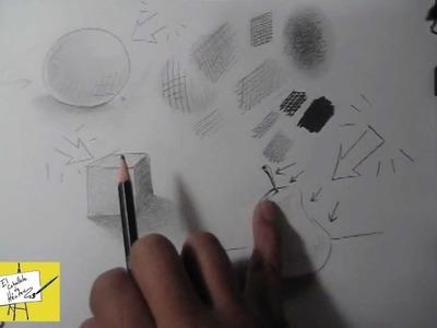 Ejercicios de Dibujo a Lápiz - acabados y texturas - 10 000 SUSCRIPTORES !!! Gracias !!!