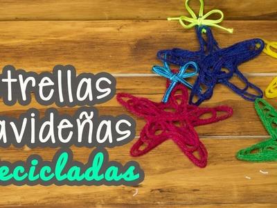 Estrellas Navideñas Recicladas - Adornos para Navidad - Decora tu Árbol de Navidad - Mini Tip# 71