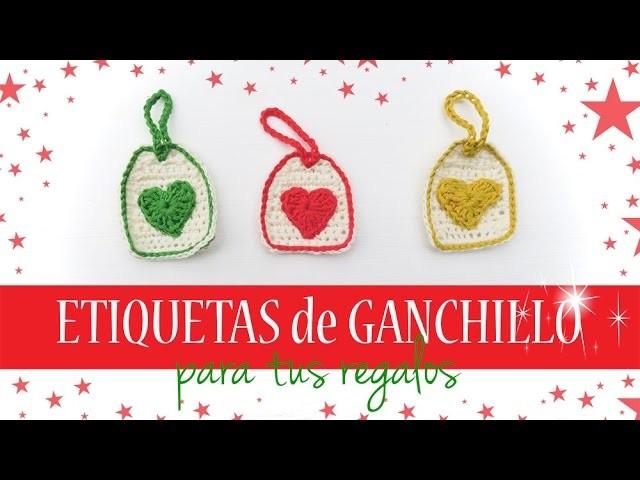 Etiquetas de ganchillo para regalos | Crochet gift tags