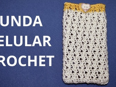 Funda Celular en tejido crochet tutorial paso a paso.