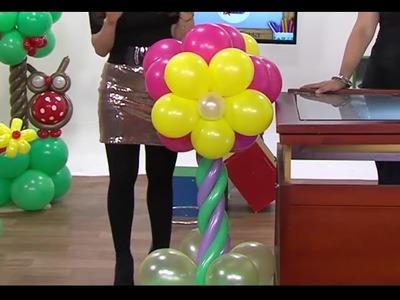 Globoflexia - Como hacer una Columna de Flores con Globos- Hogar Tv  por Juan Gonzalo Angel