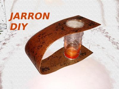 JARRON reciclando caja de pizza,diy,Florero, RECYCLING CARDBOARD VASE