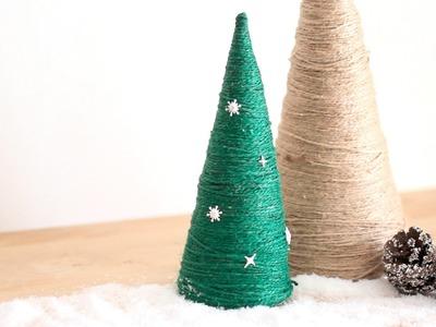 Manualidades de Navidad: Árbol de Navidad con cuerda DIY