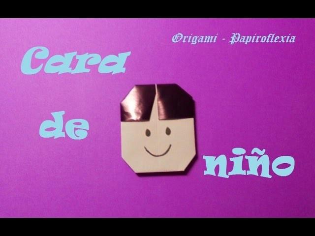 Origami - Papiroflexia Cara niño muy sencilla y rápida