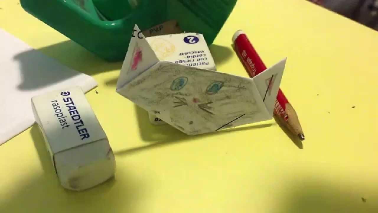 Papiroflexia. Origami - Como hacer un gato de papel