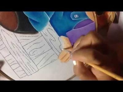 Pintura en tela Espantapajaros # 4 con cony