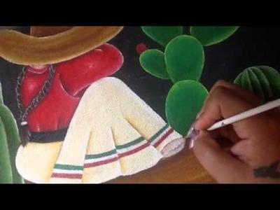 Pintura en tela Indigena # 4 cony
