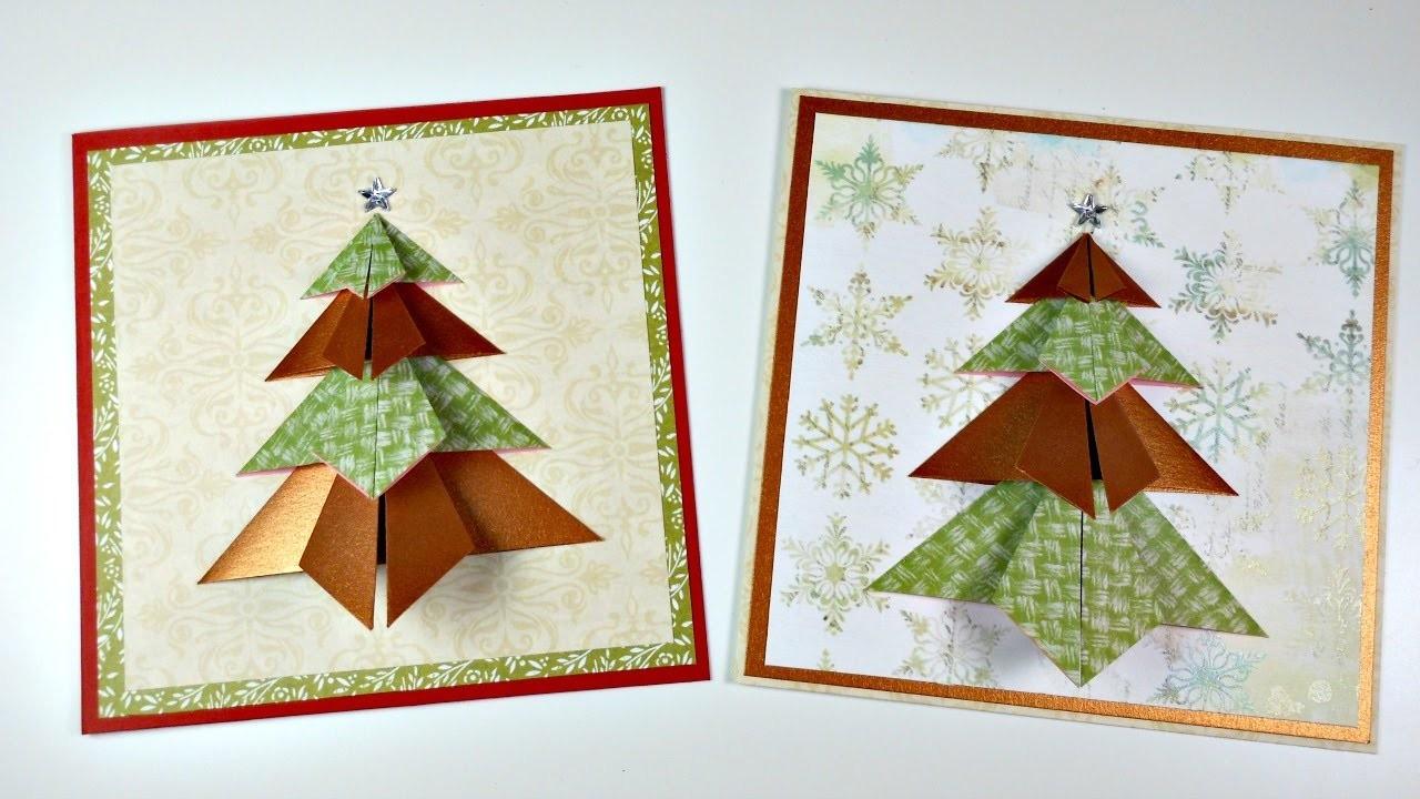 Tarjeta de Navidad con Arbol de Origami | Cardmaking | Munco@Party