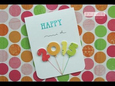 Tarjeta Festejo de mitad de año. Happy Mid 2015 Card