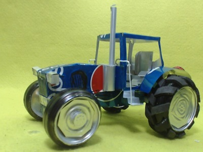 Tractor hecho con latas de aluminio Tutorial