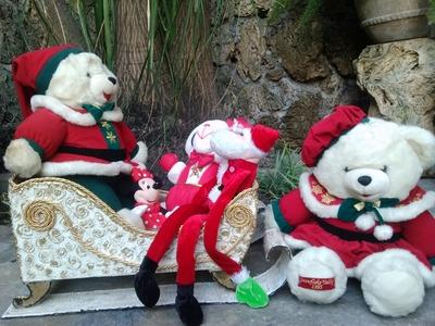 Trineo Santa Claus con cartón. Santa Claus sleigh recycling cardboard