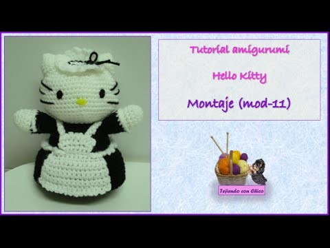 Tutorial amigurumi Hello Kitty - Montaje (mod-11)