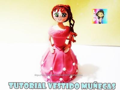 Tutorial vestido muñeca de Pastel 2da parte