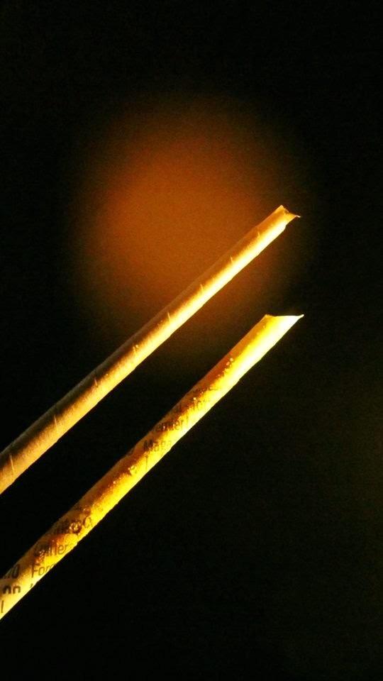 2.1.-  COMO PINTAR PALITOS, VARILLAS, TUBITOS DE PERIODICO (Con Productos Alimenticios) Paper Sticks
