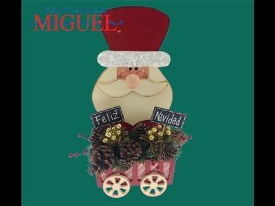 Adorno navideño con Santa Claus