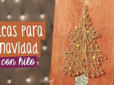Árbol de navidad: Decoraciones navideñas con hilo ✎ Craftingeek