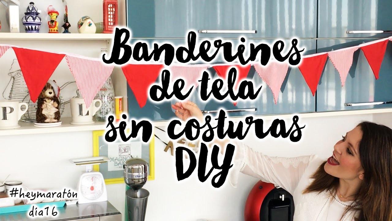 Banderines de Tela Sin Costuras DIY | Hey Luz Isabel