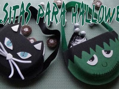 Bolsitas para halloween con materiales reciclados - Candy Bu