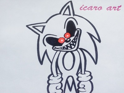 Como dibujar a sonic | how to draw sonic exe