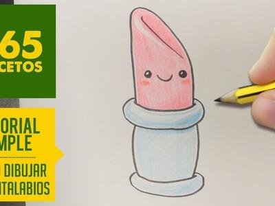 COMO DIBUJAR UNA PINTALABIOS KAWAII PASO A PASO - Dibujos kawaii faciles - How to draw a lipstick