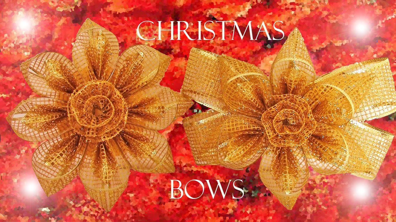 Como hacer decoraciones para navidad - how to make Christmas bows