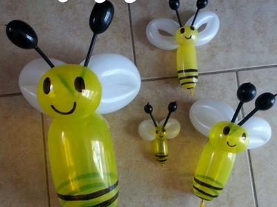Cómo hacer una abejita con globos de diferentes ta
