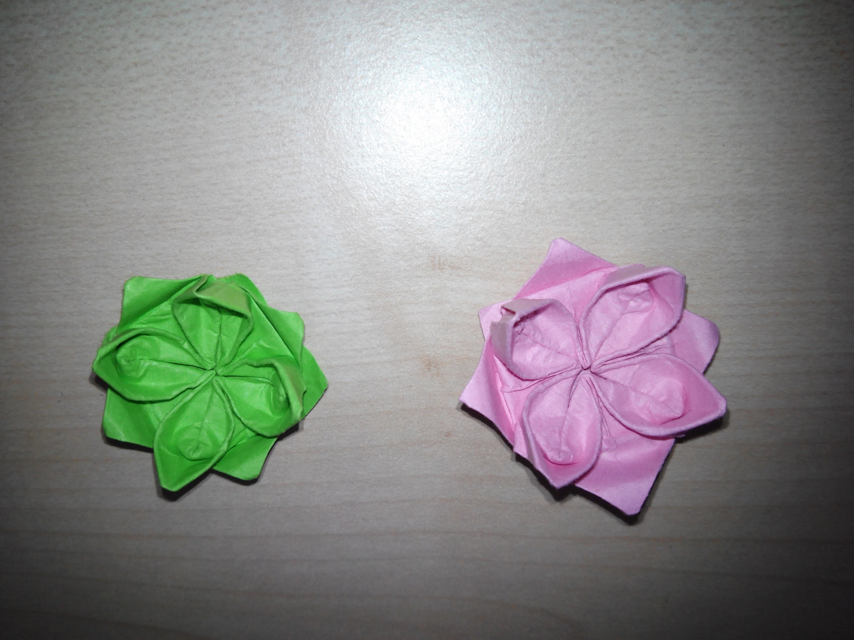 Como hacer una flor de loto Origami3