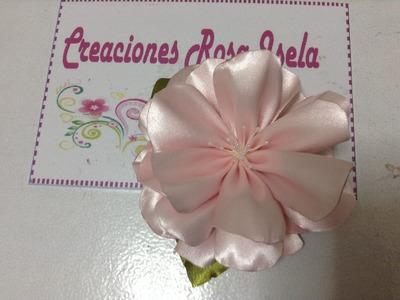 Como hacer una rosa grande de aspecto natural