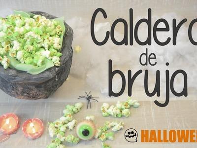 Decoración de Halloween - Caldero de bruja