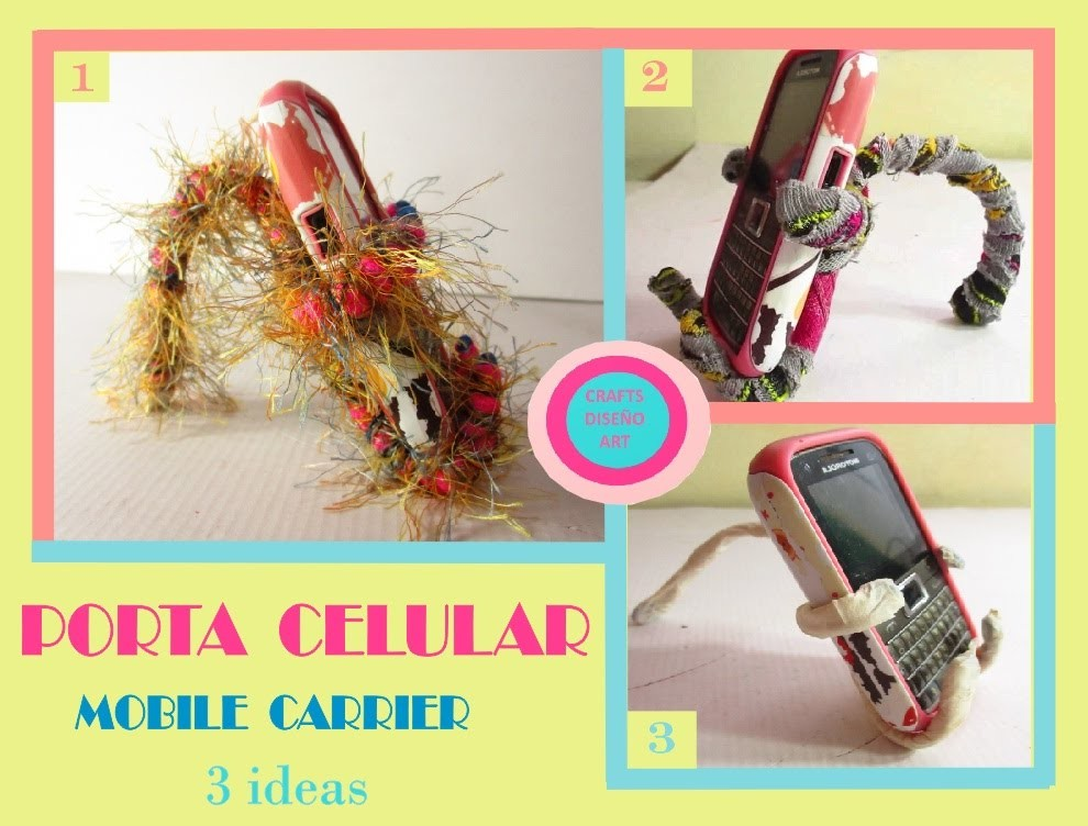 DIY - como hacer porta celular reciclado - recycling cell holder