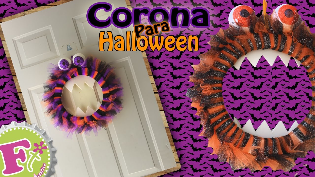 DIY: Corona Monster para Halloween!.Floritere