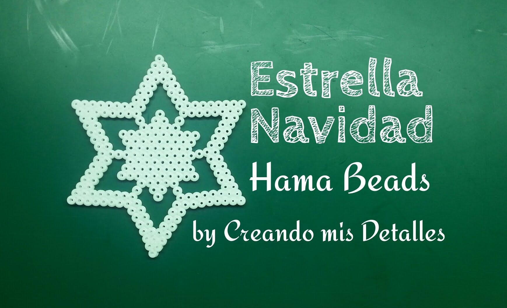 DIY Estrella de Navidad de Hama Beads (Perler Beads)